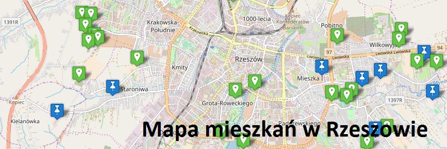 Mapa mieszkań w Rzeszowie